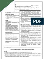 Resume for Piping Design Engg (Rajiv Chhetri)