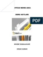 Office Word 2003 Ders Notları