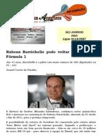 Rubens Barrichello pode voltar a pilotar na Fórmula 1
