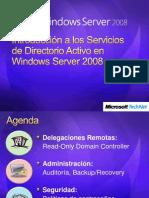 1Introduccion a Los Servicios de Directorio Activo en Windows Server 2008