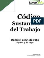 Decreto2663de1961 Codigo Sustantivo Del Trabajo