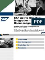 SAP AD Integration SSO User Management