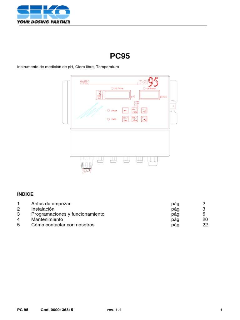 manual panel control seko pc95 rh scribd com Types of Controls Manual Control On Cars