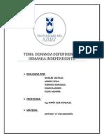 Demanda Dependiente e Independiente