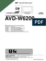 Pioneer Avd-w6200 Sm