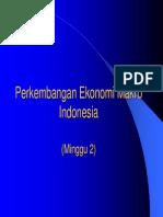 Perkembangan Ekonomi Makro Indonesia