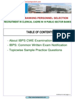 IBPS CWE Guide Free E Book Www.bankpoclerk.com
