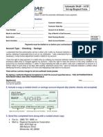 Regional Acceptance Ach Draft Form-One
