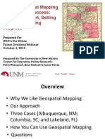 Using Geospatial Mapping To Build City Success: Creating Support, Setting Priorities, Marking Progress