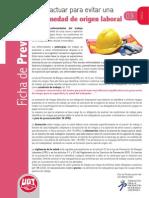 FICHA DE PREVENCIÓN DE RIESGOS LABORALES