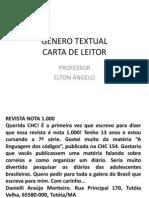 GÊNERO TEXTUAL CARTA DE LEITOR.ppt