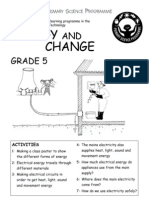 Energy and Change [Grade 5 English]