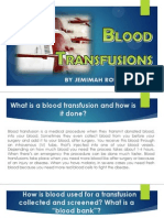 science blood transfusions