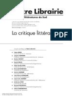 Critique Litt Afrique