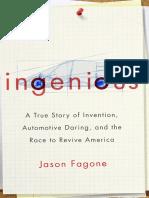 INGENIOUS by JASON FAGONE--Excerpt