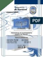 Programa de Mantenimiento Grupo
