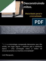 Maioridade Penal e Criminalidade