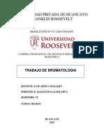 Trabajo de Bromatologia