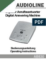 Audioline AB830