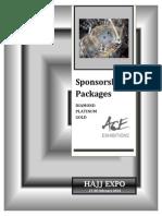 Hajj Expo Sponsorship Pack معلومات الرعاية لمعرض خدمات الحج -جدة