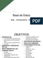 SICI 4030 5 SQL Introductorio DDL Repaso