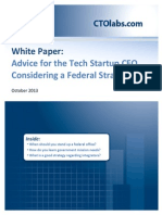 Advice for the Tech Startup CEO Considering A Federal Strategy