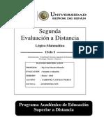 2º EVD DE LOGICO MATEMATICA_Desarrollado