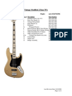 Vintage Modified J Bass 70's- Service