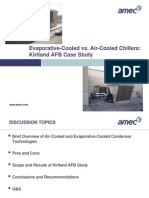 Evaporative Cooled vs Air Cooled Chillers Kirtland AFB Case Study