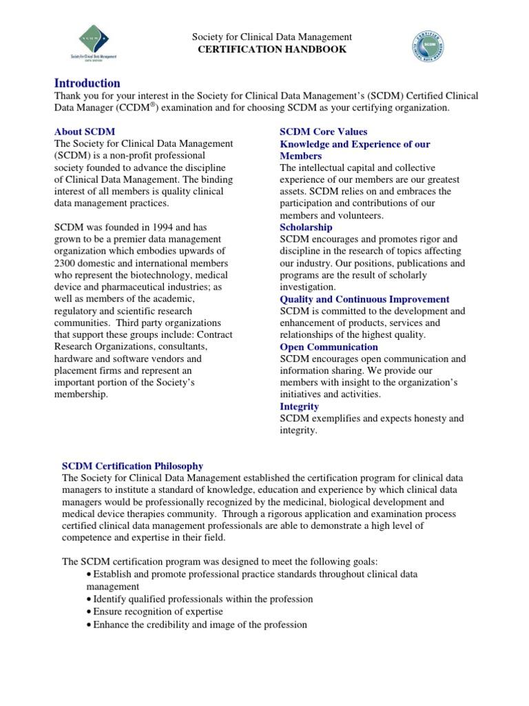SCDM Handbook | Clinical Trial | Test (Assessment)