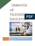Genaro Glz Romo Formatos de televisión educativa como estrategias de enseñanza y aprendizaje