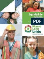 PLAN ESTATAL Equidad Genero NL 2010-2015