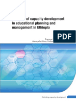 Analysis of Capacity Development in Education Planning and Managment in Ethiopia