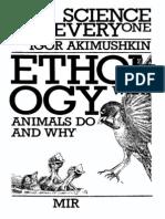 Ethology Igor Akimushkin Mir Publishers 1988
