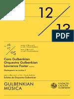 Gulbenkian 17 Maio 2013