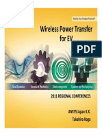Wireless PowerTransfer Electric Vehicles