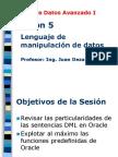 Base Datos Avanzado II - Sesion04 Manipulacion de Datos