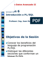 Base Datos Avanzado II - Sesion06 Introduccion PLSQL