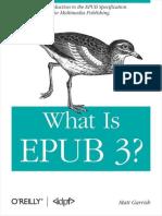 What is Epub 3 Matt Garrish