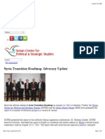 Syria Transition Roadmap Advocacy Update | SCPSS