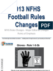 2013 Football Rules Changes