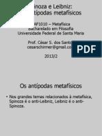 MF01 Spinoza e Leibniz, Antipodas Metafisicos