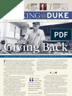 Working@Duke - December, 2007 / January, 2008