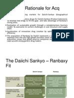 Merger of Ranbaxy and Daichii Sankyo