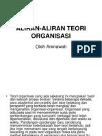 Aliran Aliran Teori Organisasi
