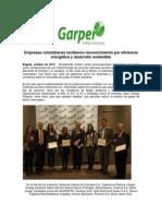 Empresas Colombianas recibieron reconocimiento por eficiencia energética y desarrollo sostenible
