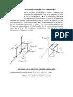 Sistemas de Coordenadas en Tres Dimensiones