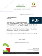 carta explicación profordems
