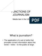Curs 2 Functions of Journalism