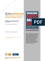 Making Music Make Money - The Song Quality Checklist